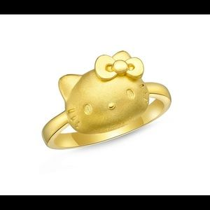 Hello Kitty 24K Gold Ring Size 7